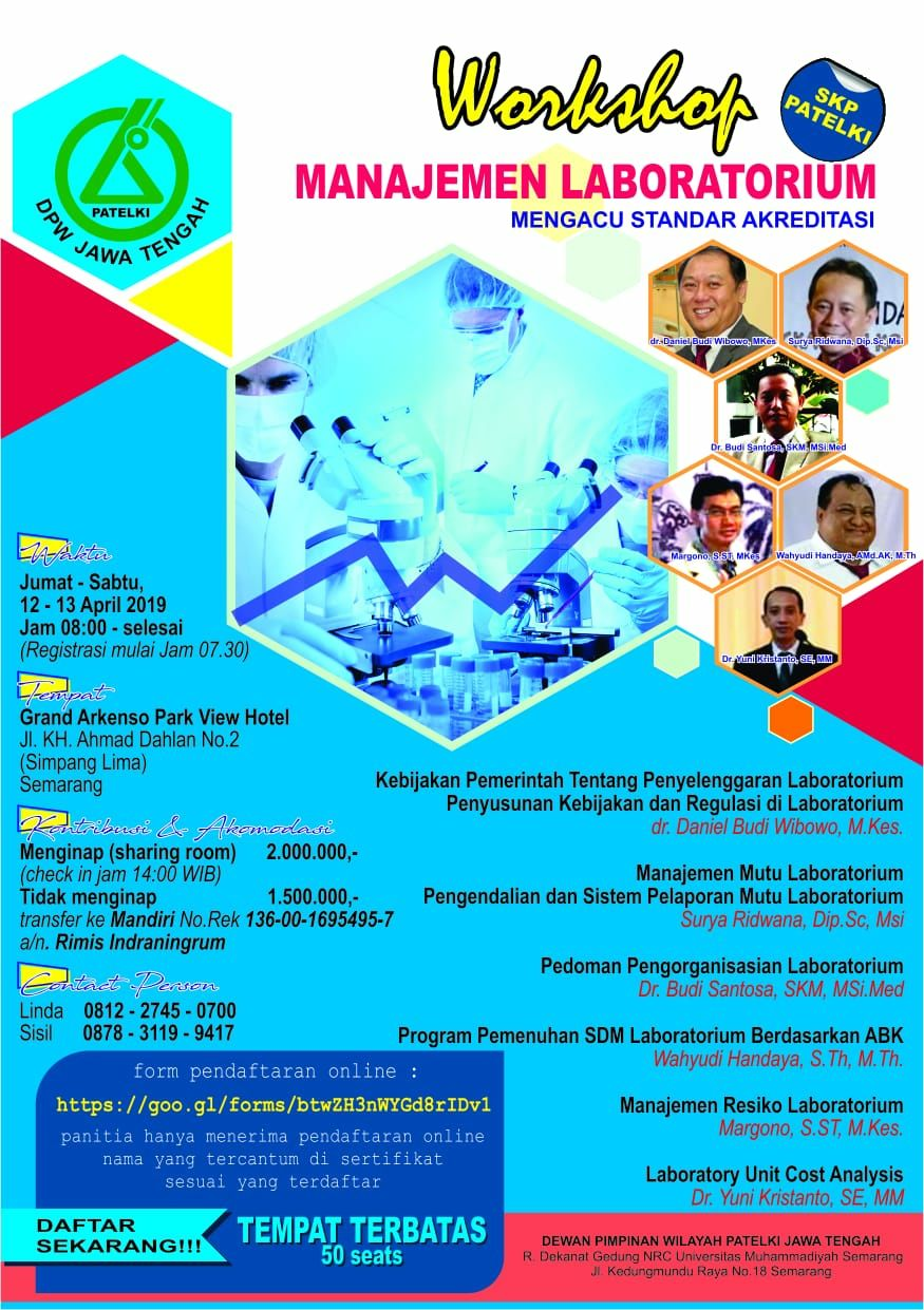 Workshop Manajemen Laboratorium | 12-13 April 2019