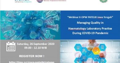 "Sertifikat Webinar ""Managing Quality in Haematology Laboratory Practice During Covid-19 Pandemic"""